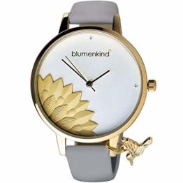 Blumenkind Damenarmbanduhr Pennsylvania Gold/Kaschmirgrau 13121989GWHPGR - 1