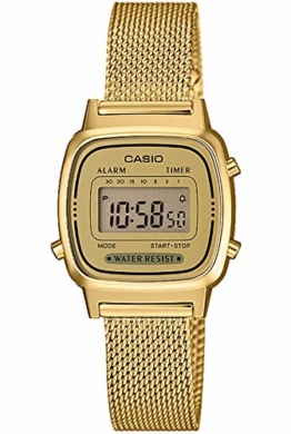 Casio Damen Digital Quarz Uhr mit massives Edelstahl Armband LA670WEMY-9EF - 1