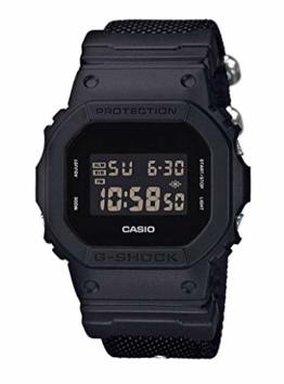 Casio G-Shock Digital Herrenarmbanduhr DW-5600BBN schwarz, Cordura Nylonarmband, 20 BAR - 1