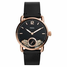 Fossil Herren Analog Quarz Uhr mit Leder Armband ME1168 - 1