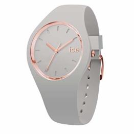 Ice-Watch - Ice Glam Pastel Wind - Graue Damenuhr mit Silikonarmband - 001066 (Small) - 1