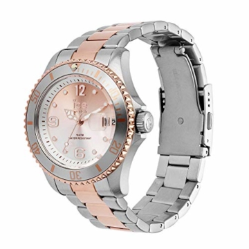 Ice-Watch - Ice Steel Silver Sunset rose-gold - Silbergraue Damenuhr mit Metallarmband - 016769 (Medium) - 2