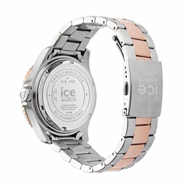 Ice-Watch - Ice Steel Silver Sunset rose-gold - Silbergraue Damenuhr mit Metallarmband - 016769 (Medium) - 4