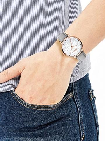 s.Oliver Damen Analog Quarz Uhr mit Leder Armband - 2
