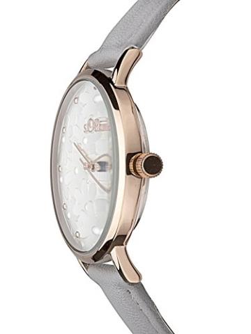 s.Oliver Damen Analog Quarz Uhr mit Leder Armband - 5
