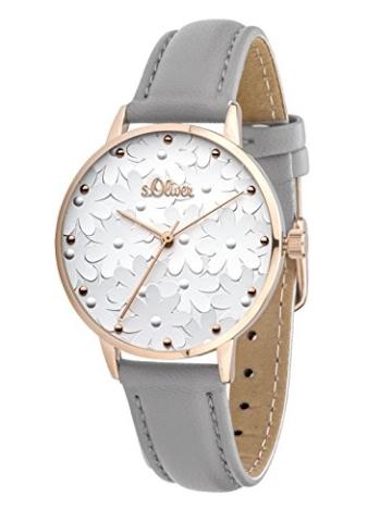s.Oliver Damen Analog Quarz Uhr mit Leder Armband - 6