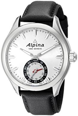 Alpina Herren-Armbanduhr 44mm Armband Leder Schweizer Quarz Analog AL-285S5AQ6 - 1