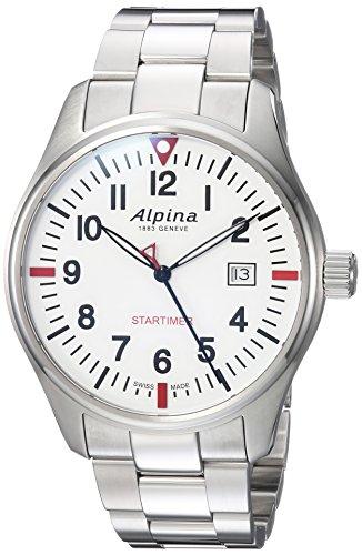 Alpina Männern Startimer 'Swiss Quarz Edelstahl Casual Uhr, Farbe: silberfarbene (Modell: al-240s4s6b) - 1