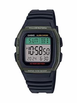 CASIO Herren Digital Quarz Uhr mit Resin Armband W-96H-3AVEF - 1