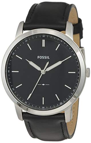 Fossil Herren Analog Quarz Uhr mit Leder Armband FS5398 - 1