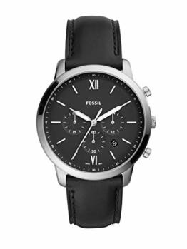 Fossil Herren Analog Quarz Uhr mit Leder Armband FS5452 - 1