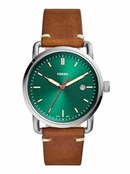 Fossil Herren Analog Quarz Uhr mit Leder Armband FS5540 - 1