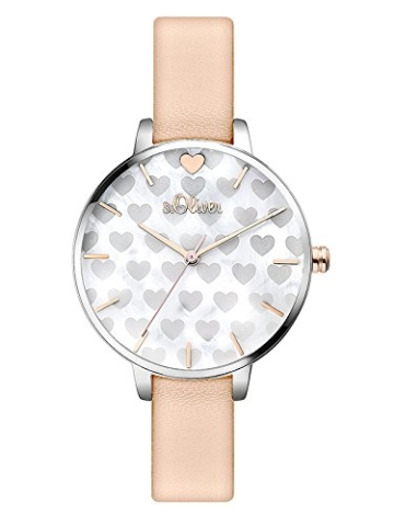 S.Oliver Damen Analog Quarz Armbanduhr SO-3474-LQ - 1