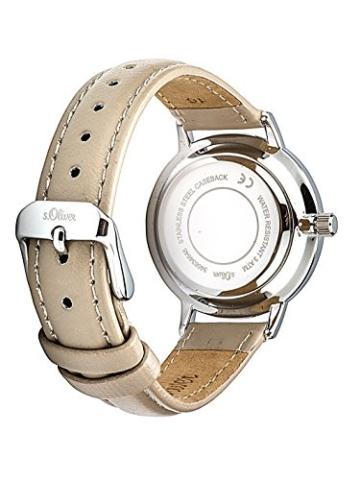 s.Oliver Damen Analog Quarz Uhr mit Leder Armband - 3