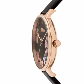 s.Oliver Damen Analog Quarz Uhr mit Leder Armband SO-3779-LQ - 4