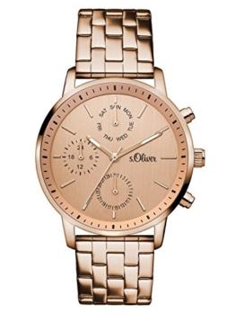 s.Oliver Damen-Armbanduhr Analog Quarz Edelstahl SO-3188-MM - 1