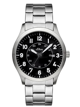s.Oliver Herren-Armbanduhr Analog Quarz Edelstahl SO-3127-MQ - 1