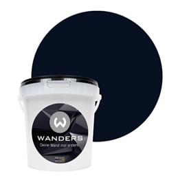 Wanders24 Tafelfarbe (1Liter, Schwarz) matte Wandfarbe in 20 Farbtönen erhältlich, individuelle Gestaltung für Zuhause, Farbe made in Germany - 1