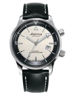 Alpina Herren Analog Automatik Uhr mit Gummi Armband AL-525S4H6 - 1