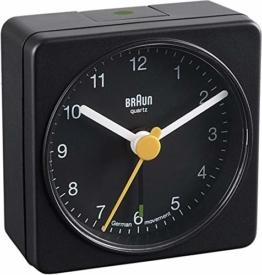 Braun BNC002 BKBK Quarzgesteuerte Batterie-Weckuhr, schwarz - 1