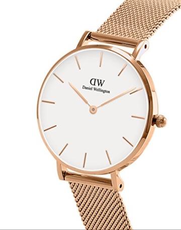 Daniel Wellington Unisex Erwachsene Digital Quarz Uhr mit Edelstahl Armband DW00100163 - 2