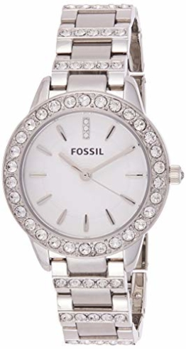 Fossil Damen Analog Quarz Uhr mit Edelstahl Armband ES2362 - 1