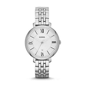 Fossil Damen Analog Quarz Uhr mit Edelstahl Armband ES3433 - 1