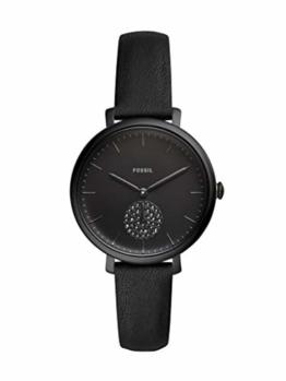Fossil Damen Analog Quarz Uhr mit Leder Armband ES4490 - 1
