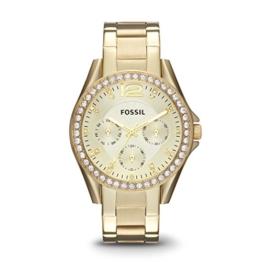 Fossil Damen Analog Quarz Uhr mit Weißgold Armband ES3203 - 1