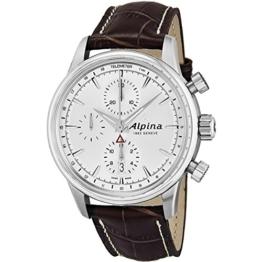 Alpina Herren-Armbanduhr 42mm Armband Schweinsleder Braun Automatik AL-750S4E6 - 1