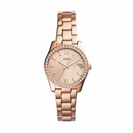 Fossil Damen Analog Quarz Smart Watch Armbanduhr mit Edelstahl Armband ES4318 - 1