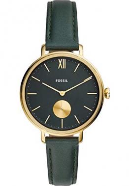 Fossil Damen Analog Quarz Uhr mit Echtes Leder Armband ES4662 - 1