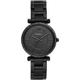Fossil Damen Analog Quarz Uhr mit Edelstahl Armband ES4488 - 1