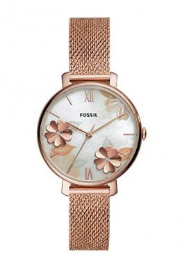 Fossil Damen Analog Quarz Uhr mit Edelstahl Armband ES4534 - 1