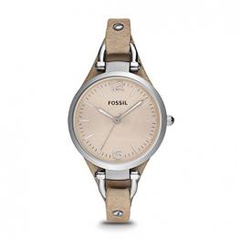 Fossil Damen Analog Quarz Uhr mit Leder Armband ES2830 - 1