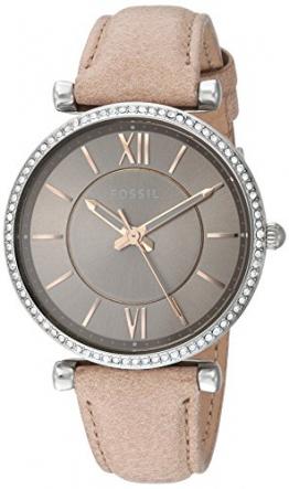 Fossil Damen Analog Quarz Uhr mit Leder Armband ES4343 - 1