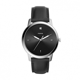 Fossil Herren Analog Quarz Uhr mit Leder Armband FS5497 - 1