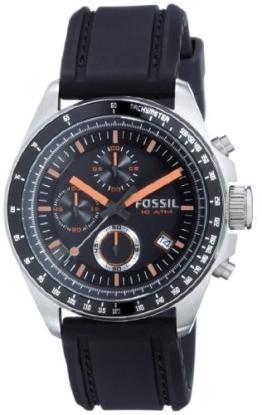 Fossil Herren Analog Quarz Uhr mit Silicone Armband CH2647 - 1