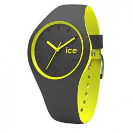 Ice-Watch - Ice Duo Anthracite Yellow - Grau Jungenuhr mit Silikonarmband - 001486 (Small) - 1