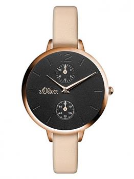 s.Oliver Damen Analog Quarz Armbanduhr mit PU Armband SO-3535-LM - 1