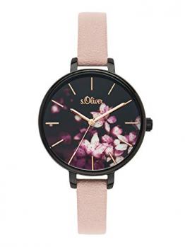 s.Oliver Time Damen Analog Quarz Uhr mit PU Armband SO-3589-LQ - 1
