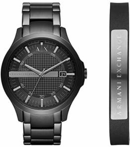 Armani Exchange Herren Analog Quarz Uhr mit Edelstahl Armband AX7101 - 1