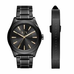 Armani Exchange Herren Analog Quarz Uhr mit Edelstahl Armband AX7102 - 1