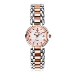 BINLUN Damen Edelstahl Quarzuhren Wasserdicht Vergoldet Armband Armbanduhr für Damen - 1