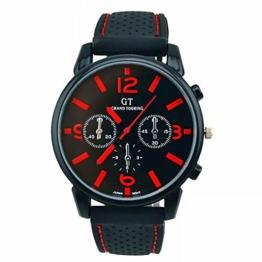 Bledyi Herren Einfache Große Zifferblatt Silikonarmband Uhr Mode Analog Quarzuhr Geeignet für Arbeit/Dating - 1