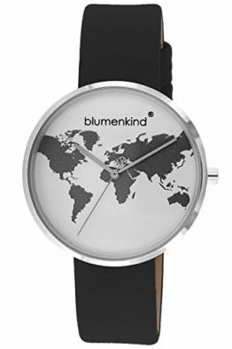 Blumenkind Damen-Armbanduhr Weltenbummler schwarz BKU1SPBK - 1
