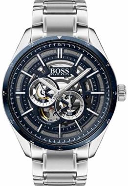 Boss Herren-Uhren Analog Automatik One Size Silber 32011956 - 1