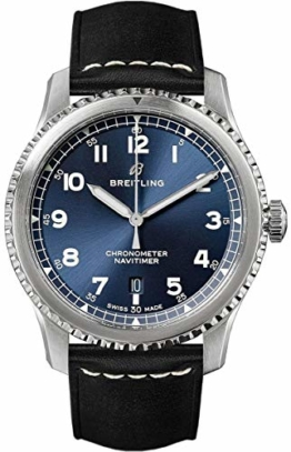 Breitling Navitimer 8 Automatic 41 Blue Dial Black Leather Strap Men's Watch (REF. A17314101C1X2) - 1