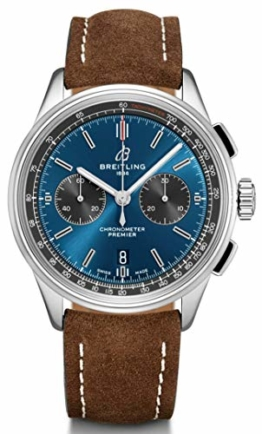 Breitling Premier B01 Chronograph 42 Nubuklederband braun AB0118A61C1X3 - 1