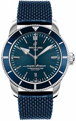Breitling Superocean Heritage II B20 Automatikuhr 44 blau Aero Classic Kautschuk Armband AB2030161C1S1 - 1